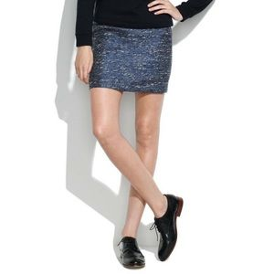 Madewell Courthouse Blue in Shimmerweave Skirt 0